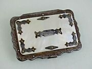 Superb Quality Antique Brevete Coin Purse Steel / Mother Of Pearl France 19 Cent