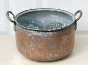 Large Antique C. 1850 Copper Pot With Tin Lining 16