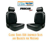 Classic Complete Seats And Bracket Kit Procar 80-1500-71 For 1965-1998 Mustangand039s