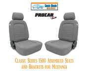 Classic Complete Seats And Bracket Kit Procar 80-1500-62 For 1965-1998 Mustangand039s