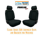 Classic Complete Seats And Bracket Kit Procar 80-1500-61 For 1965-1998 Mustang's