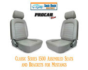 Classic Complete Seats And Bracket Kit Procar 80-1500-52 For 1965-1998 Mustang's