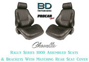 Rally 1000 Series Seats Brackets And Rear Cover 80-1000-51 For 1968-1972 Chevelle