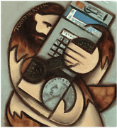 Tommervik Caveman Art Payphone Wall Art Abstract Oil Painting By Tommervik
