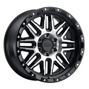 Black Rhino Alamo 20x9 6x135 Et12 Black W/mach Face And Stainless Bolts Qty Of 4