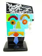 Signed And With Certificate Genuine Italian Picasso Tribute Face Sculpture No 13