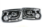 Bi Xenon Headlights Front Lamps Pair Fit Land Rover Discovery Lr4 13- Facelift
