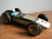 Old Vintage Battery Powered Huge 17 Inch, Tin Sports Car Of 50's, Made In Japan.