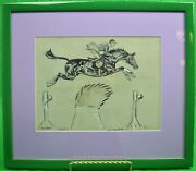 Double Jump Watercolor And Gouache By Paul Brown Signed