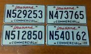 Lot Of 4 Louisiana Commercial License Plates - Very Good Excellent Condition