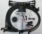 Small Block Chevy Pro Series Hei Distributor + Black Plug Wires Under Exhaust