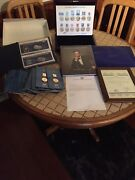 The American Presidents Solid Silver/gold Layer Ingot And Stamp Limited To 17.5