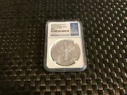 Rare 2015 W Silver Eagle From Annual Set/ Ngc Ms70 Fdoi Population 459