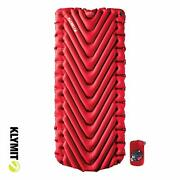Klymit Insulated Static V Luxe Sleeping Pad Extra Wide 30 Inches Best Camping...