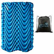 Klymit Double V Sleeping Pad 2 Person Inflatable Pad For Camping Bundle With ...
