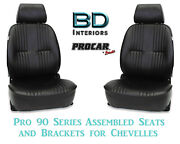 Pro 90 Series Assembled Seats And Brackets 80-1300-51 For 1964 -1977 Chevelle