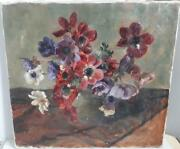 Cornelis Bouter 1888-1966 Dutch Oil Painting Signed Table Still Life Flower Rare