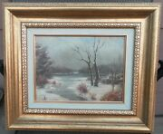 John Colin Forbes 1846-1925 Original Oil Painting Wooded Lakeside Scene Signed