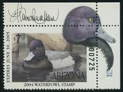 Arizona 18 7.5 State Duck Remarque And Artist Signed Xf Og Nh Rare Bv1809