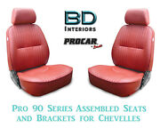 Pro 90 Series Assembled Seats And Brackets 80-1000-58 For 1964-1977 Chevelle