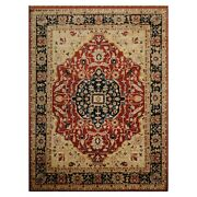 8and0397x11and0393 Hand Knotted Wool Stone Wash Peshawar Vegetable Dyes Herizz Area Rug