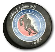 John D'amico Signed Hockey Puck Autographed Hof Nhl Official Psa/dna Ag51089 B35
