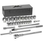Gearwrench Rachet Socket Set 3/4 Drive 12 Point Wrench Sockets Tools 27 Piece
