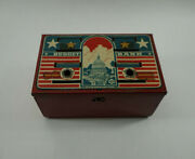 Vintage Marx Budget Bank Tin Metal Red White And Blue Capital Building Toy