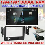 1994-1997 Dodge Ram Kenwood Bluetooth Usb Screen Mirror Car Radio Stereo Package