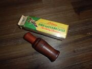 Vintage Hand Made Lohman Goose Call Made In Usa W/ Box And Paper