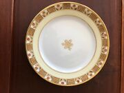 Antique Nippon Rc Noritake Hand Painted 8 1/2andrdquo Plate W/gold Beading