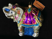 New In Box/ Tag Jay Strongwater Parading Elephant Ornament Crystals