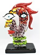Signed Giant 32cm Murano Italian Abstract Tribute To Picasso Head Free Shipping