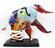 Signed Giant 27cm Murano Italian Abstract Tribute To Picasso Head Free Shipping