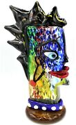 Signed Giant 34cm Murano Abstract Tribute To Picasso Head Free Shipping