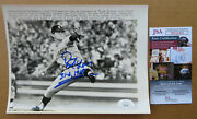 Detroit Tigers Denny Mclain Signed Wire Photo 1968 Ws Game 6 + Ticket 10-09-68