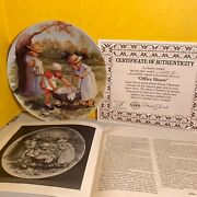 1984 Edwin M. Knowles Office Hours By Jeanne Down's Collector Plate