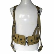 Wwii Us Army Magazine Belt And Soldier Suspenders X Strap Full Set