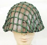Wwii Ww2 Japanese Army Soldier Military Type 90 Steel Helmet With Camouflage Net
