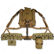 Wwii Us Army Usmc Soldier Uniform Upper Backpack Straps Spade Ten Cell Pouch
