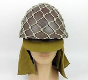 Wwii Japanese Army Soldier Helmet And Helmet Net Cover Japanese Army Cap Hat Set