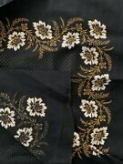 Antique Russian Cotton Block Roller Printed Textile Scarf 34in Sq