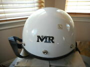 New Motorcycle White M2r Half Helmet 503 Size Large Size L