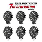 6x7inch Led Work Lights Pods 51w Round Led Driving Fog 4wd Suv Offroad Atv Boat