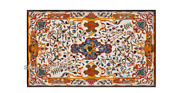 48 X 32 Marble Coffee Table Top Pietra Dura Floral Handmade Inlay Work