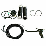 Throttle Cable Clutch Cable Handlebar Grip Set Fit 66cc 80cc Motorized Bicycle