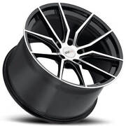 4 18 Staggered Cray Wheels Spider Black Rims Fit Corvette B30