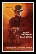 Pale Rider ✯ Cinemasterpieces Clint Eastwood Rare Intl Western Movie Poster 1985