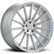 4 22 Staggered Road Force Wheels Rf15 Silver Rims B54