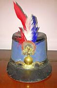 Rare Original French Shako 1889 Special Military School Two Cocarde Hat